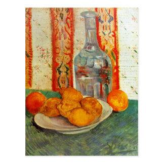 Karaff och citroner av Vincent Van Gogh Vykort