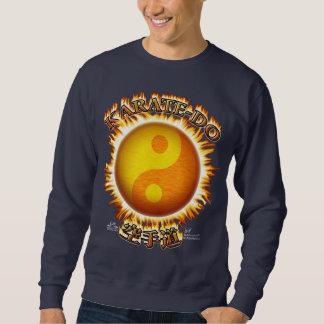 Karate-bekläda mörk sweatshirts långärmad tröja