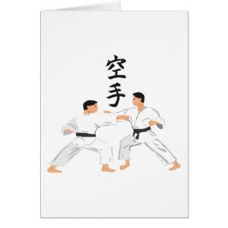 Karate Hälsningskort