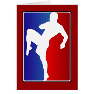 Karatekämpe för Muttahida Majlis-E-Amal Brizillian Hälsningskort