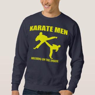 Karatemanar - mörbulta på insidan långärmad tröja