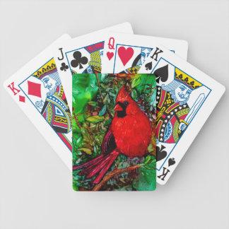 Kardinal i träd spelkort