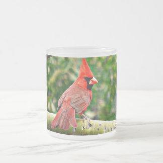 Kardinal på en frostad Glass mugg för Limb