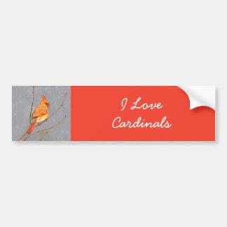 Kardinal på gren bildekal