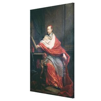 Kardinal Pierre de Berulle Canvastryck