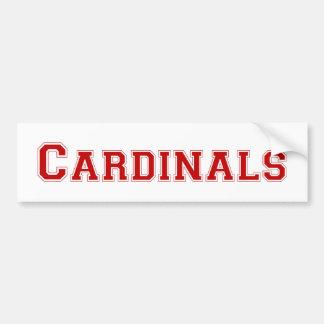 Kardinaler kvadrerar logotypen i rött bildekal