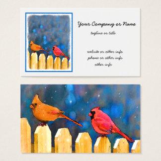 Kardinaler på staket visitkort