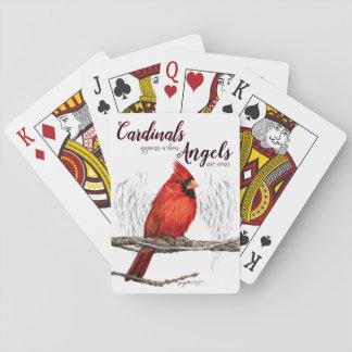 Kardinaler syns änglar är nära att leka kort spel kort