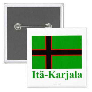 Karelia flagga med namn i finska nål