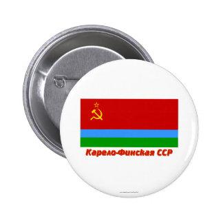 Karelo-Finska SSR flagga med namn Pins
