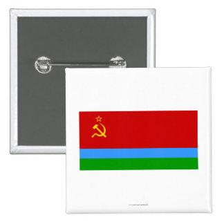 Karelo-Finska SSR flagga Standard Kanpp Fyrkantig 5.1 Cm