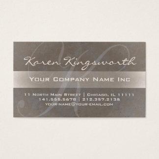 Karens Pro stil för elegant Taupe för K-Monogram Visitkort