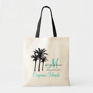 Karibisk destinationsbrölloptote bags tote bag