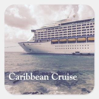 Karibisk kryssning - kvadrera klistermärkear som fyrkantigt klistermärke