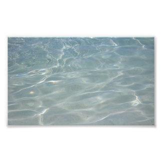 Karibisk natur för vattenabstraktblått fototryck