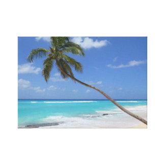 Karibisk palmträdstrand canvastryck
