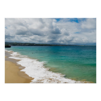 Karibisk strand poster