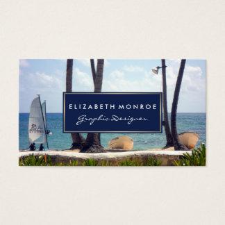 Karibisk strand visitkort