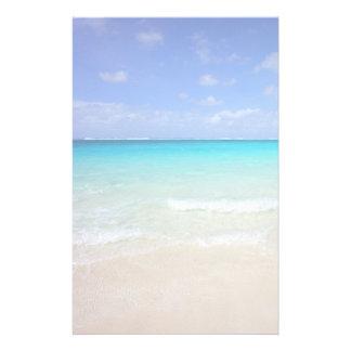 Karibisk tropisk strand för Azure blått Brevpapper