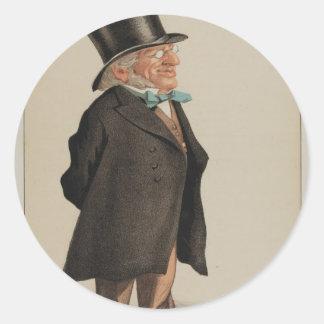 Karikatyr för statsmän No.1310 av herr Francis Runt Klistermärke