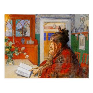 Karin läsning vykort