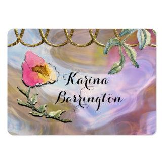 Karina blom- yrkesmässig skönhet set av breda visitkort