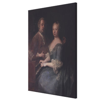 Karl-Heinrich Graun och hans fru Anna-Louise Canvastryck