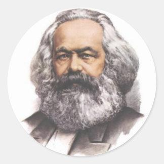 Karl Marx klistermärkear Runt Klistermärke