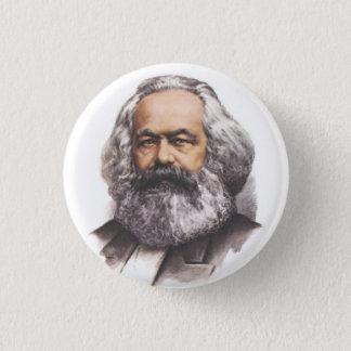 Karl Marx knäppas Mini Knapp Rund 3.2 Cm