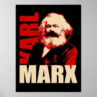 Karl Marx porträtt, kommunist/socialistisk affisch