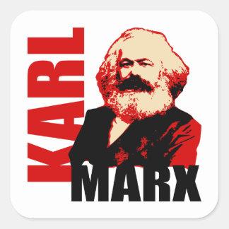 Karl Marx, socialist & kommunist Fyrkantigt Klistermärke
