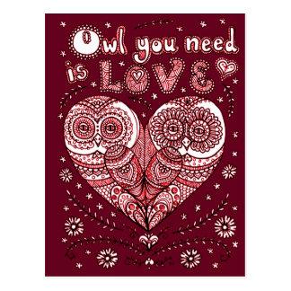 Kärlek 2 vykort