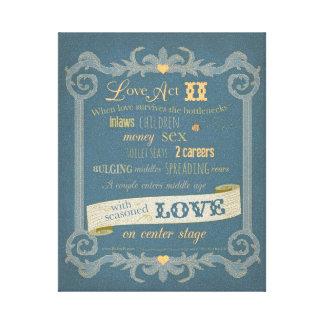 Kärlek agerar kanfas II Canvastryck