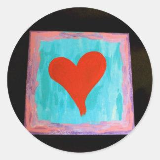 Kärlek alltid runt klistermärke