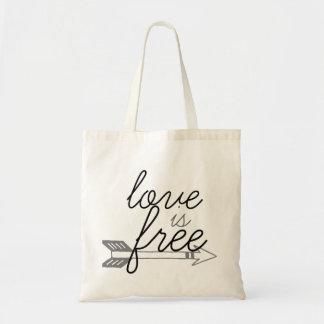 Kärlek är den fria piltotot budget tygkasse