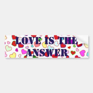 Kärlek är den mång- bildekalet för svarshjärtor bildekal