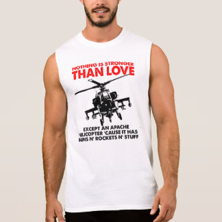 Kärlek är den starka roliga T-tröja Ärmlös Tröja