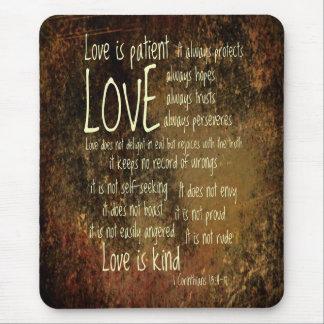 Kärlek är den tålmodiga blandningen musmatta