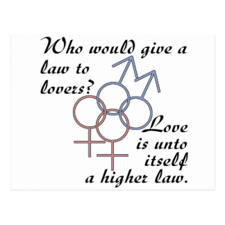 Kärlek är en högre lag vykort