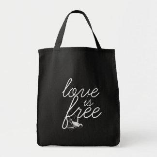Kärlek är fritt den stora totot mat tygkasse