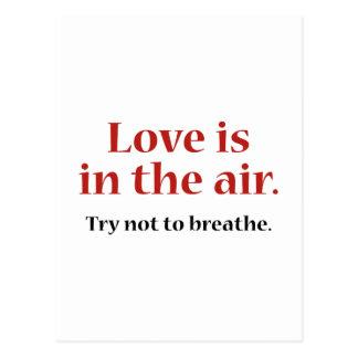 Kärlek är i luften vykort