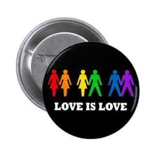 Kärlek är kärlek knappar med nål
