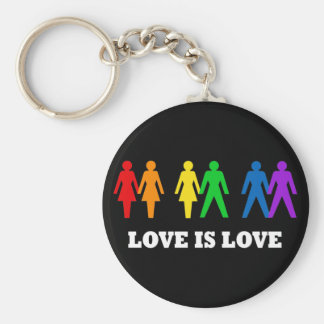Kärlek är kärlek rund nyckelring