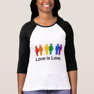 Kärlek är kärlek t shirts