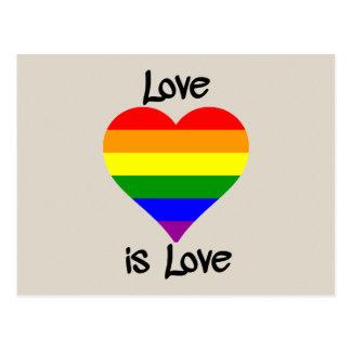Kärlek är kärlek vykort