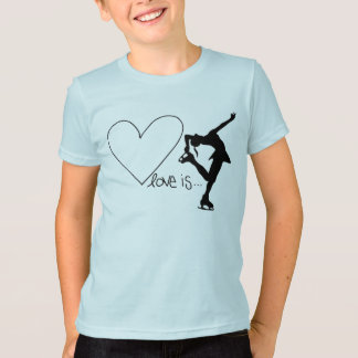 Kärlek är konståkningen, med hjärta tröja