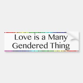 Kärlek är många den Gendered sakbildekalet Bildekal