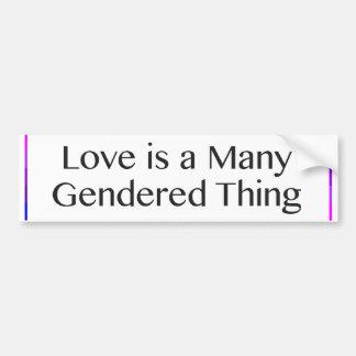 Kärlek är många den Gendered saken Bildekal