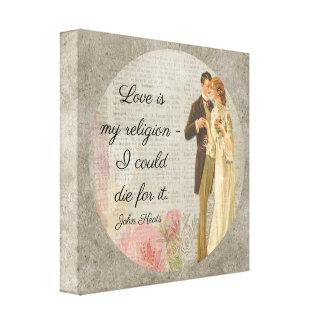 Kärlek är min religion_Keats - kanfaskonst Canvastryck