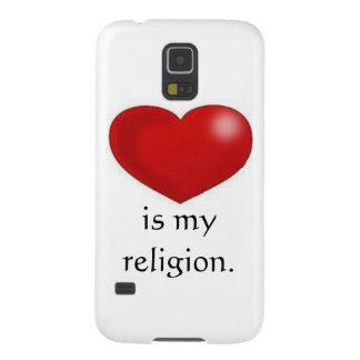 Kärlek är mitt religiontelefonfodral galaxy s5 fodral